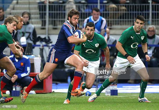 Maxime Medard of France in action during the RBS Six Nations match between France and Ireland at the Stade de France on March 15 2014 in SaintDenis...