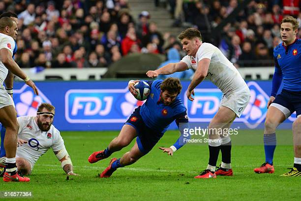 Maxime Medard of France in action during the RBS Six Nations match between France and England at Stade de France on March 19 2016 in SaintDenis near...