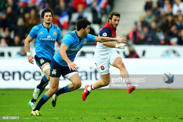 Maxime Medard of France kicks up field during the RBS Six Nations match between France and Italy at Stade de France on February 6 2016 in Paris France