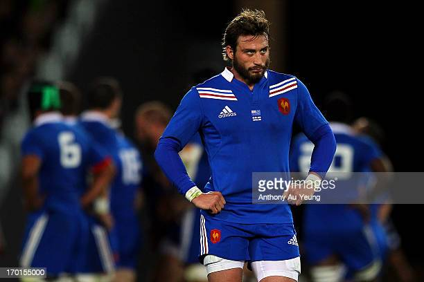 Maxime Medard of France looks on during the first test match between the New Zealand All Blacks and France at Eden Park on June 8 2013 in Auckland...