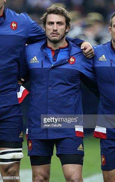 Maxime Medard of France looks on during the national anthem prior to the international friendly match between France and Argentina at Stade de France...