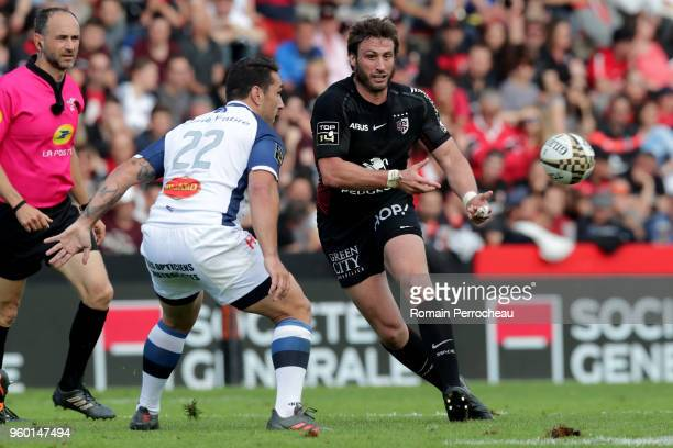 Maxime Medard of Toulouse in action during the French Top 14 match between Stade Toulousain and Castres at Stade Ernest Wallon on May 19 2018 in...