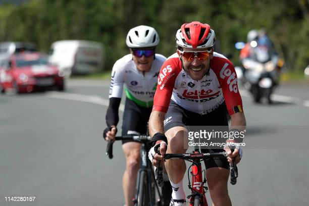 Maxime Monfort of Belgium and Team Lotto Soudal / Benjamin King of The United States and Team Dimension Data / during the 59th ItzuliaVuelta Ciclista...