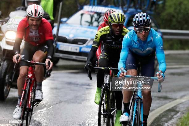 Maxime Monfort of Belgium and Team Lotto Soudal / Tsgabu Grmay of Ethiopia and Team Mitchelton Scott / Carlos Verona of Spain and Movistar Team /...