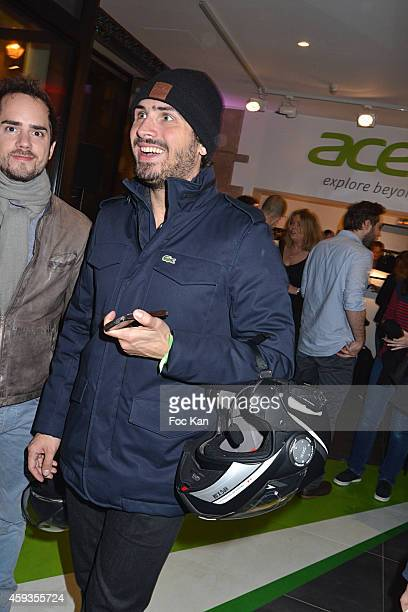 Maxime Musqua attends the Acer Pop Up Store Launch Party at Les Halles on November 20, 2014 in Paris, France.