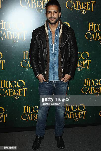 Maxime Nucci attends 'Hugo Cabret 3D' Photocall at Cinema UGC Normandie on December 6 2011 in Paris France