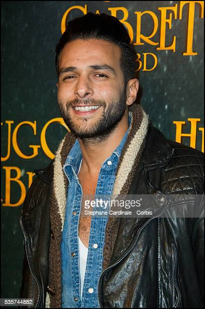 Maxime Nucci attends the premiere of Hugo Cabret 3D in Paris