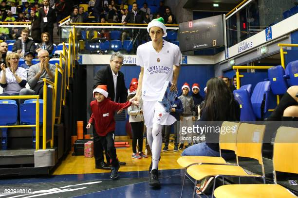 Maxime Roos of Levallois during the Pro A match between Levallois and Chalons Reims at Salle Marcel Cerdan on December 16 2017 in Paris France