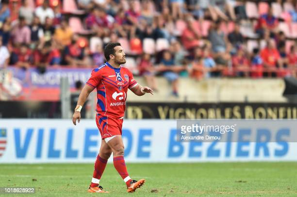Maxime Veau of Beziers during the French Pro D2 match between Beziers and Soyaux Angouleme on August 17 2018 in Beziers France