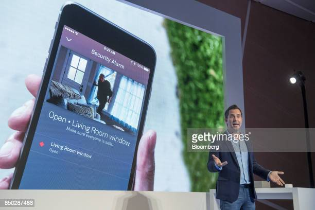 Maxime Veron head of product marketing for Nest Labs Inc speaks during an event in San Francisco California US on Wednesday Sept 20 2017 Alphabet...