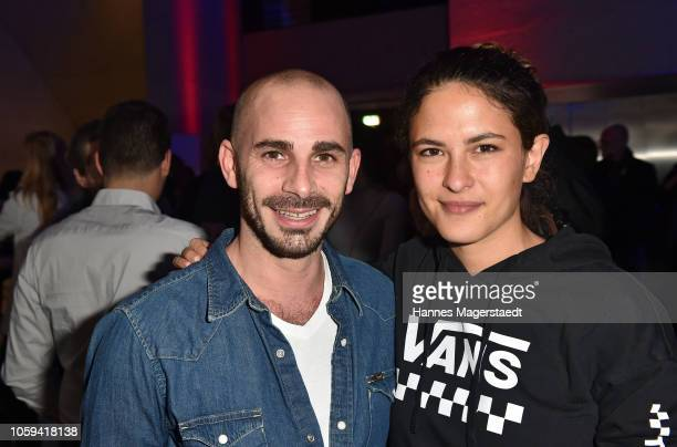 Maximilian Allgeier and Amanda da Gloria during the Seriencamp opening party at HFF Muenchen on November 8 2018 in Munich Germany