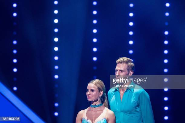 Maximilian Arland and Sarah Latton are focused during the 8th show of the tenth season of the television competition 'Let's Dance' on May 12 2017 in...