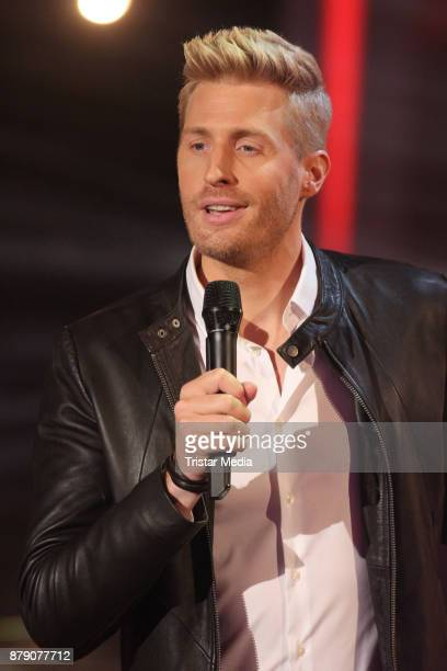 Maximilian Arland performs at the TV Show 'Die Schlager des Jahres 2017' on November 25 2017 in Suhl Germany