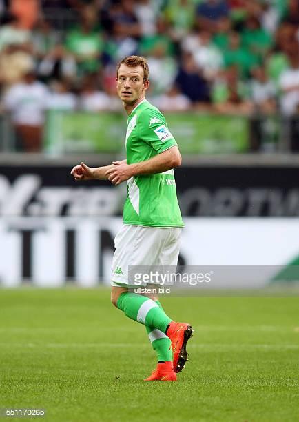 Maximilian Arnold, Einzelbild, Aktion , VfL Wolfsburg, Testspiel Freundschaftsspiel, Bundesliga DFL, Sport, Fußball Fussball, Volkswagen Arena...