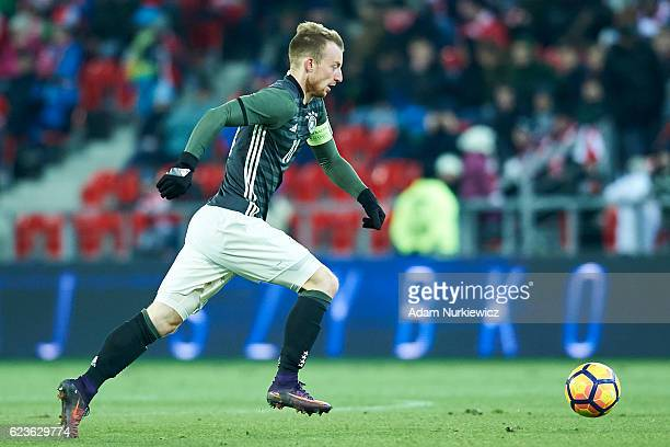 Maximilian Arnold from Germany controls the ball during the International Friendly soccer match between Poland U21 and Germany U21 at the Municipal...