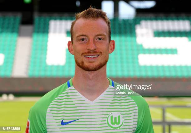 Maximilian Arnold of VfL Wolfsburg poses during the team presentation at on September 13 2017 in Wolfsburg Germany
