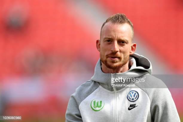 Maximilian Arnold of Wolfsburg looks on prior to the Bundesliga match between Bayer 04 Leverkusen and VfL Wolfsburg at BayArena on September 1 2018...
