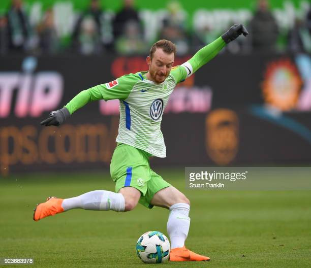 Maximilian ArnoldÊof Wolfsburg in action during the Bundesliga match between VfL Wolfsburg and FC Bayern Muenchen at Volkswagen Arena on February 17...