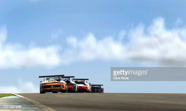 Maximilian Benecke of Germany and Team Redline in action during the feature race in Round Three of the Porsche TAG Heuer Esports Supercup run at...