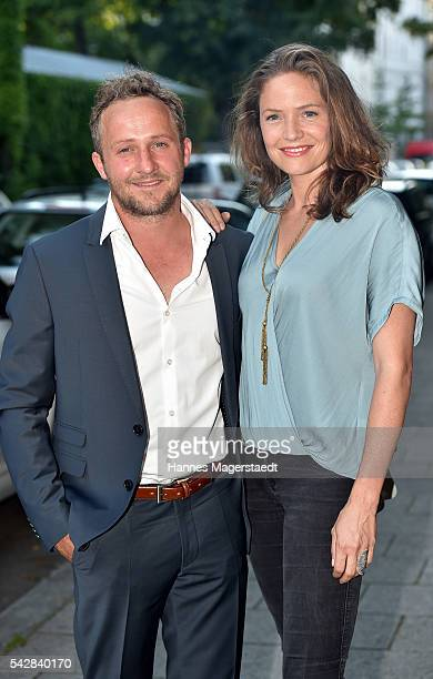 Maximilian Brueckner and Patricia Aulitzky the ARD Degeto Get Together during the Munich Film Festival 2016 at Kaisergarten on June 24 2016 in Munich...