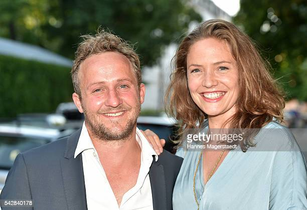 Maximilian Brueckner and Patricia Aulitzky the ARD Degeto Get Together during the Munich Film Festival 2016 at Kaisergarten on June 24, 2016 in...