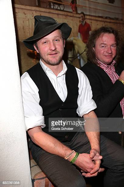 Maximilian Brueckner during the Weisswurstparty at Hotel Stanglwirt on January 20 2017 in Going near Kitzbuehel Austria