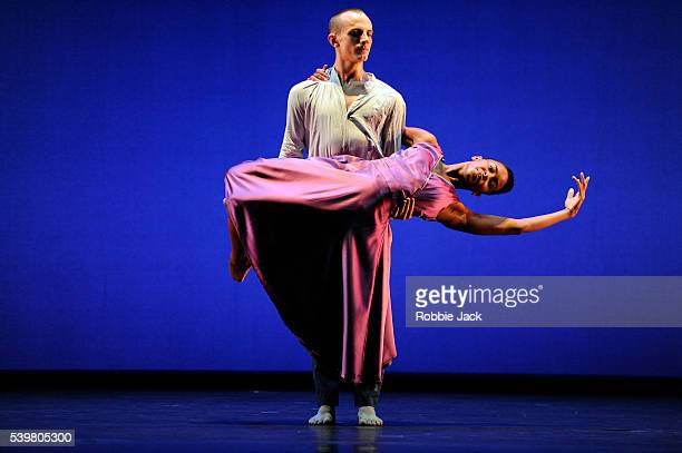 Maximilian CappelliKing and Julia Headley in Juilliard Dance's production of Jose Limon's The Waldstein Sonata at the Edinburgh Playhouse as part of...
