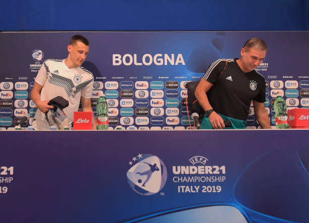 ITA: Germany & Romania Training Sessions And Press Conferences - UEFA U21 Championships