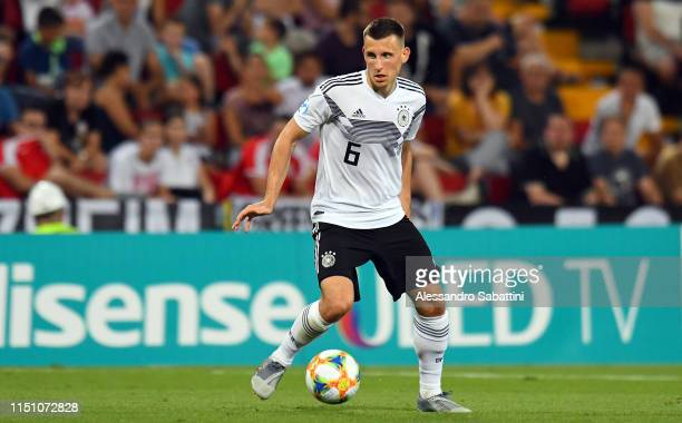 Maximilian Eggestein of Germany in action during the 2019 UEFA U-21 Group B match between Germany and Serbia at Stadio Nereo Rocco on June 20, 2019...