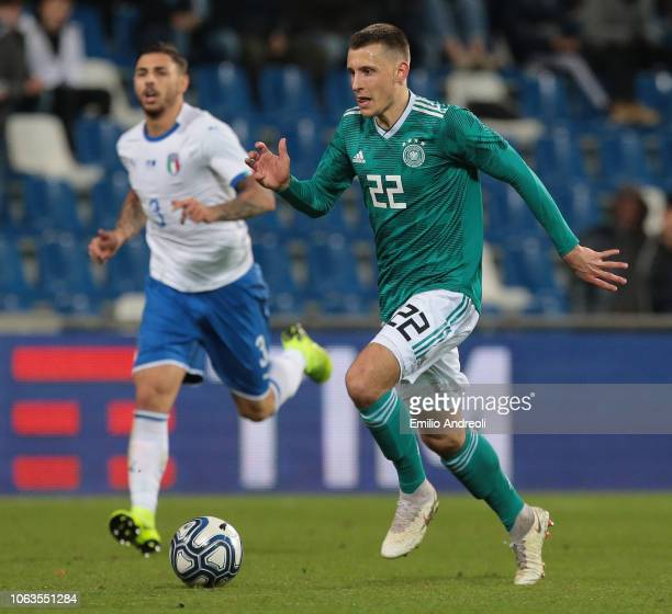 Maximilian Eggestein of Germany in action during the International friendly match between Italy U21 and Germany U21 on November 19, 2018 in Reggio...