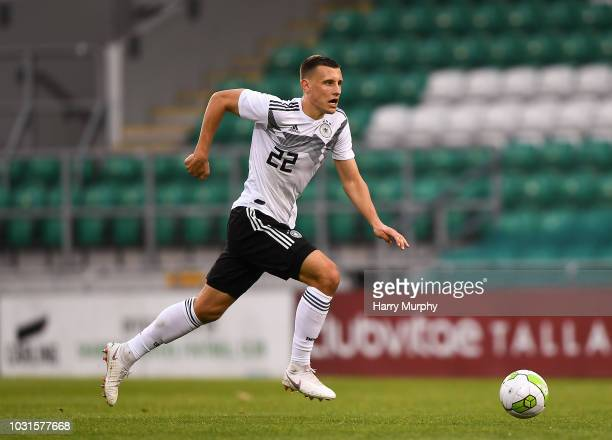 Maximilian Eggestein of Germany in action the 2019 UEFA European Under-21 Championship Qualifier between Republic of Ireland U21 and Germany U21 on...