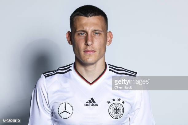 Maximilian Eggestein of Germany poses for the Germany U21 Team Presentation on August 29 2017 in Harsewinkel Germany
