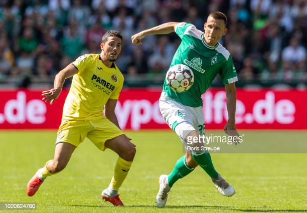 Maximilian Eggestein of Werder Bremen controls the ball during the Pre Season Friendly Match between Werder Bremen and FC Villareal at Weserstadion...