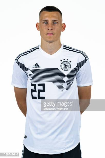 Maximilian Eggestein poses during the Germany U21 Team Presentation on September 4, 2018 in Herzogenaurach, Germany.