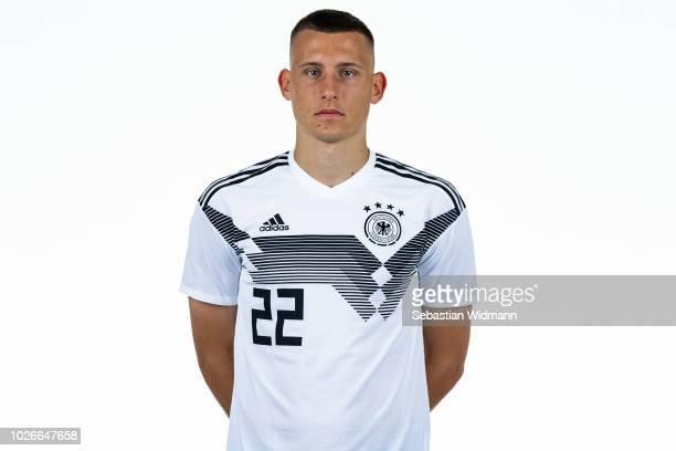 Maximilian Eggestein poses during the Germany U21 Team Presentation on September 4 2018 in Herzogenaurach Germany