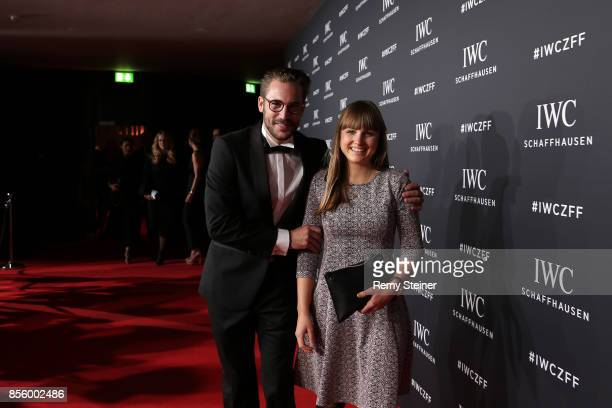 Maximilian Goetz and Sofia Wiedenroth attend the IWC 'For the Love of Cinema' Gala Dinner at AURA Zurich on 30 September 2017 in Zurich Switzerland...