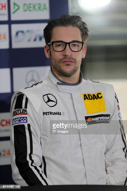 Maximilian Goetz looks on during a training session of the DTM 2016 German Touring Car Championship at Hockenheimring on April 8 2016 in Hockenheim...