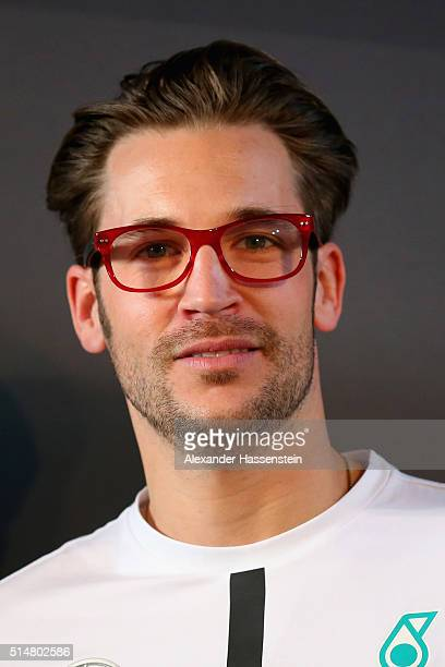 Maximilian Goetz of Germany and Mercedes AMG DTM team faces the media during the Mercedes Benz Motorsport Kickoff 2016 at the Inner Sanctum on March...