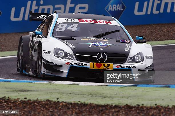Maximilian Goetz of Germany and Mercedes Mücke Motorsport drives during the warm up prior to the second race of the DTM 2015 German Touring Car...