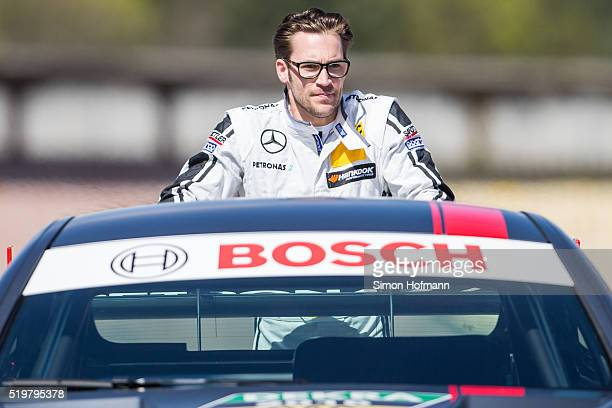 Maximilian Goetz of MercedesAMG DTM Team HWA attends during DTM Media Day at Hockenheimring on April 8 2016 in Hockenheim Germany