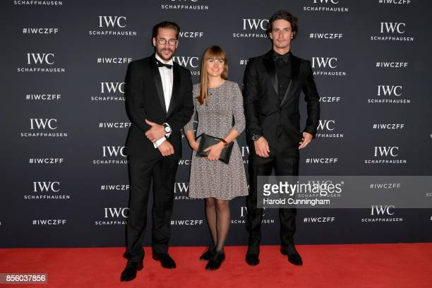Maximilian Goetz Sofia Wiedenroth and Patrick Seabase attend the IWC 'For the Love of Cinema' Gala Dinner at AURA Zurich on 30 September 2017 in...