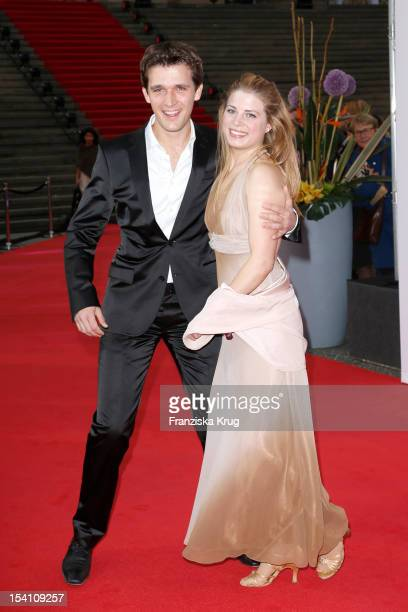 Maximilian Hornung and Katharina Weigert arrive at the Echo Klassik 2012 award ceremony at Konzerthaus Berlin on October 14 2012 in Berlin Germany
