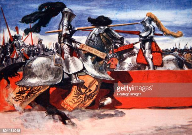 Maximilian I Holy Roman Emperor jousting at a tournament late 15th or early 16th century Maximilian I was king of Germany and Holy Roman Emperor He...