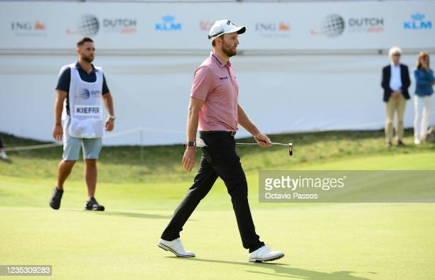 Maximilian Kieffer of Germany putting at the 18th hole during Day Two of the Dutch Open at Bernardus Golf on September 17, 2021 in Cromvoirt,...