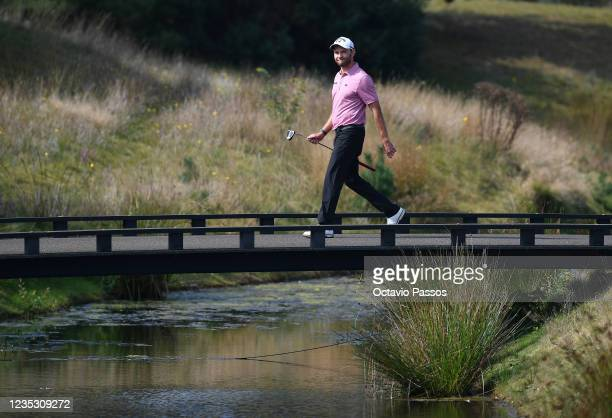 Maximilian Kieffer of Germany walks to the 18th hole during Day Two of the Dutch Open at Bernardus Golf on September 17, 2021 in Cromvoirt,...