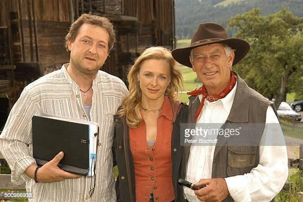 Maximilian Krückl Marita Marschall Siegfried Rauch Dreharbeiten zum ARDFilm Der Ruf der Berge alter Titel Alarm in den Bergen Ellmau...