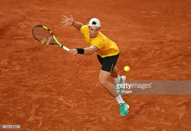 Maximilian Marterer of Germany in action during the International German Open at Rothenbaum on July 24 2017 in Hamburg Germany