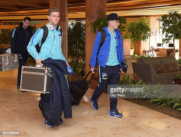 Maximilian Mittelstaedt and Sinan Kurt of Hertha BSC during the Winter training camp of Hertha BSC on January 10 2016 in Belek Turkey