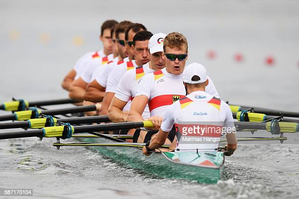 Maximilian Munski of Germany Malte Jakschik of Germany Andreas Kuffner of Germany Eric Johannesen of Germany Maximilian Reinelt of Germany Felix...