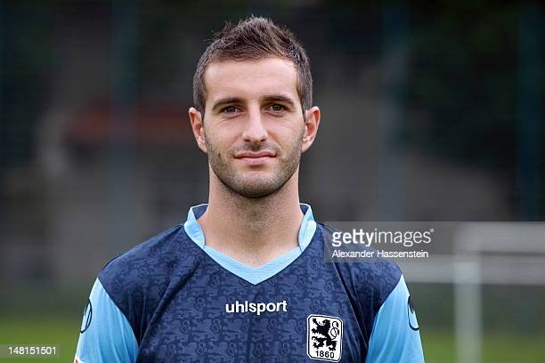 Maximilian Nicu of 1860 Muenchen poses during the Second Bundesliga team presentation of TSV 1860 Muenchen on July 11 2012 in Munich Germany